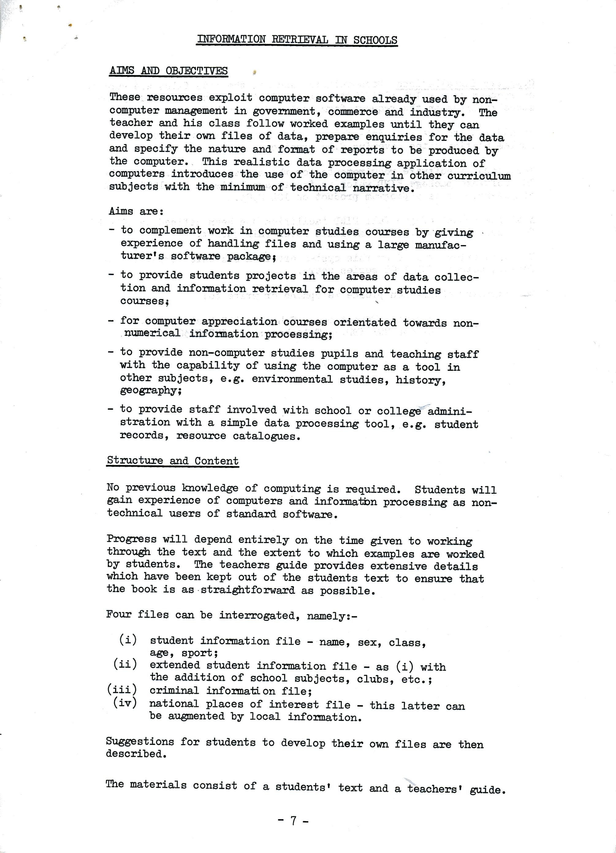 Originals: ICL-CES Project Description — ICL CES - Computer
